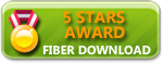 FiberDownload 5 Stars Award
